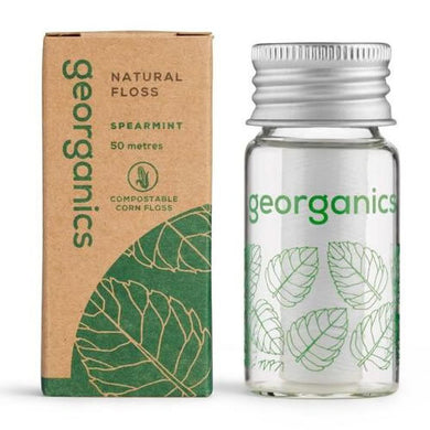 Georganics Plastic Free Dental Floss - Spearmint (50m)