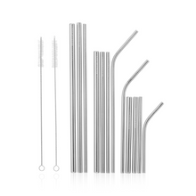 Load image into Gallery viewer, Seed & Sprout Stainless Steel Eco Straw Set and Brushes (12 Pack)