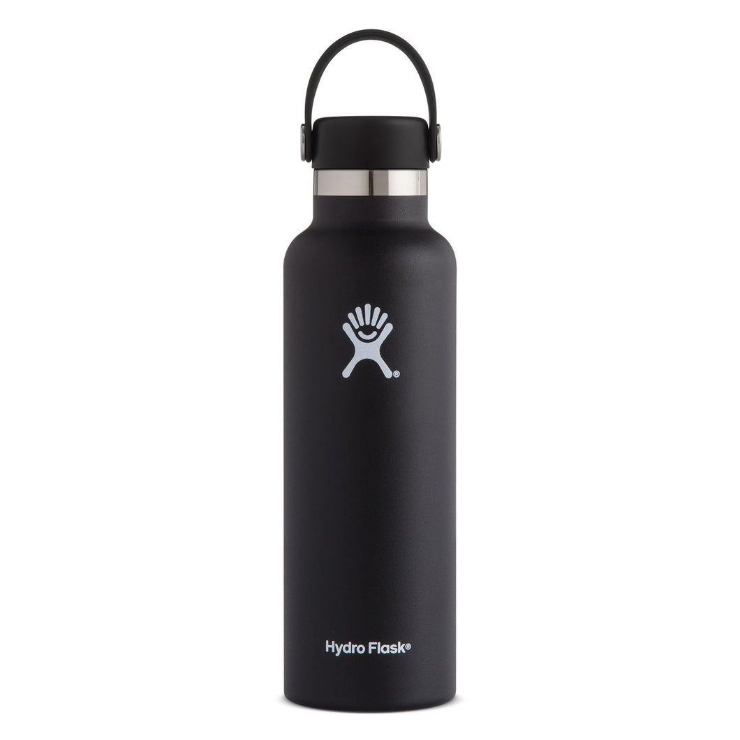 Hydro Flask Insulated Stainless Steel Drink Bottle (621ml) - Standard Mouth Black