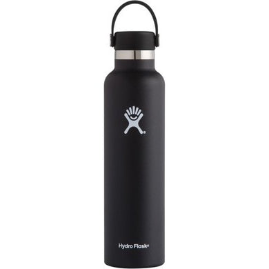 Hydro Flask Insulated Stainless Steel Drink Bottle (709ml) - Standard Mouth Black