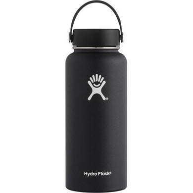 Hydro Flask Insulated Stainless Steel Drink Bottle (946ml) - Wide Mouth Black