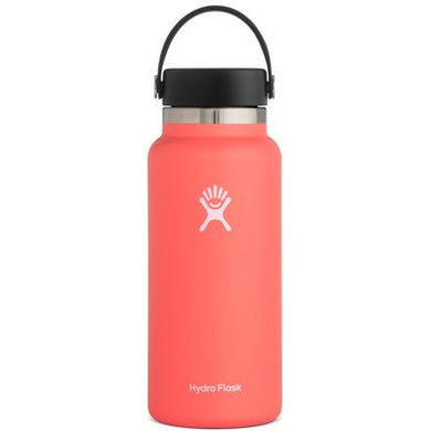 Hydro Flask Insulated Stainless Steel Drink Bottle (946ml) - Wide Mouth Hibiscus