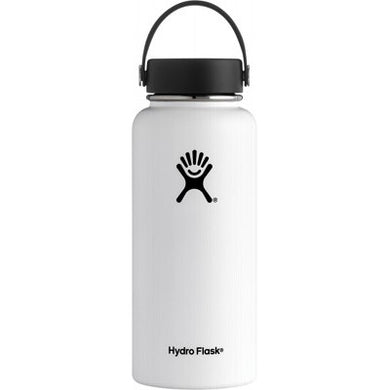 Hydro Flask Insulated Stainless Steel Drink Bottle (946ml) - Wide Mouth White