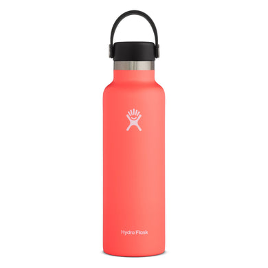 Hydro Flask Insulated Stainless Steel Drink Bottle (621ml) - Standard Mouth Hibiscus