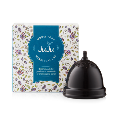 JuJu Menstrual Cup - Black Model 4