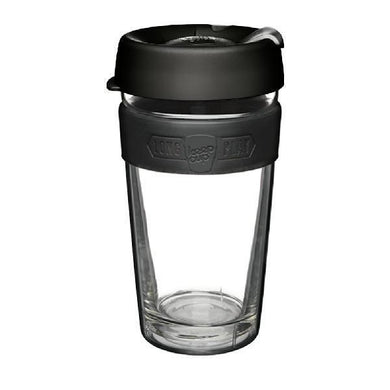 KeepCup Double Wall Reusable Coffee Cup - LongPlay Large 16oz (Black)