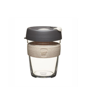 KeepCup Reusable Coffee Cup - Brew Medium 12oz Grey/Cream (Chai)
