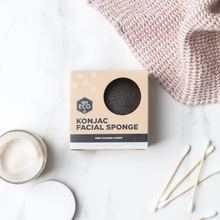 Load image into Gallery viewer, Ever Eco Konjac Facial Sponge - Charcoal Infused