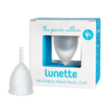 Load image into Gallery viewer, Lunette Menstrual Cup - Clear-Menstrual Cups-MintEcoShop