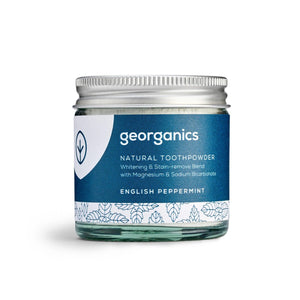 Georganics Natural Toothpaste Powder - English Peppermint (60ml)