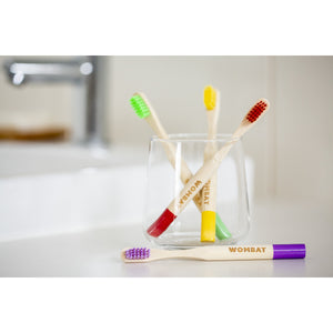 Wombat Kids Bamboo Toothbrush - Purple