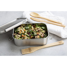 Load image into Gallery viewer, Wombat Stainless Steel Lunch Box with Removable Divider - Medium (800ml)