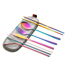 Load image into Gallery viewer, Wombat Stainless Steel Travel Cutlery Set - Rainbow