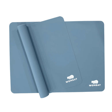 Wombat Reusable Non-Stick Silicone Baking Mats - Blue (2 Pack)