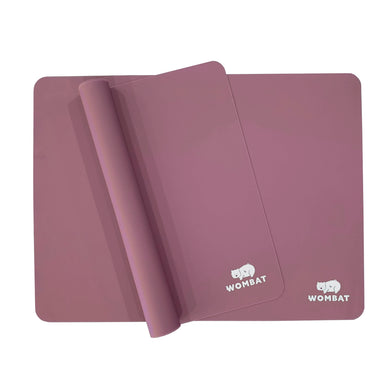 Wombat Reusable Non-Stick Silicone Baking Mats - Pink (2 Pack)