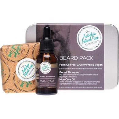 ANSC Beard Care Pack with Beard Shampoo Bar & Oil