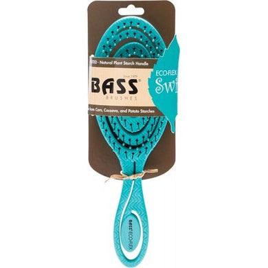 Bass Brushes Bio-Flex Detangler Hair Brush - Teal
