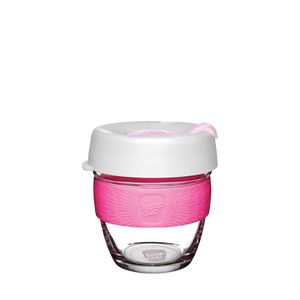 KeepCup Reusable Coffee Cup - Brew Small 8oz White/Pink (Hazel)