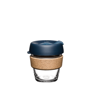 KeepCup Reusable Coffee Cup - Brew Cork Extra Small 6oz Blue (Spruce)