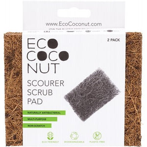 EcoCoconut Coconut Scourer Scrub Pads (2 Pack)