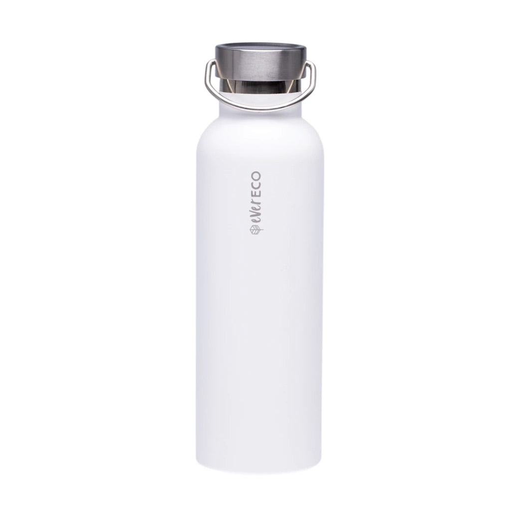 Insulated Stainless Steel Bottle - Cloud White (750ml)-out & about-MintEcoShop