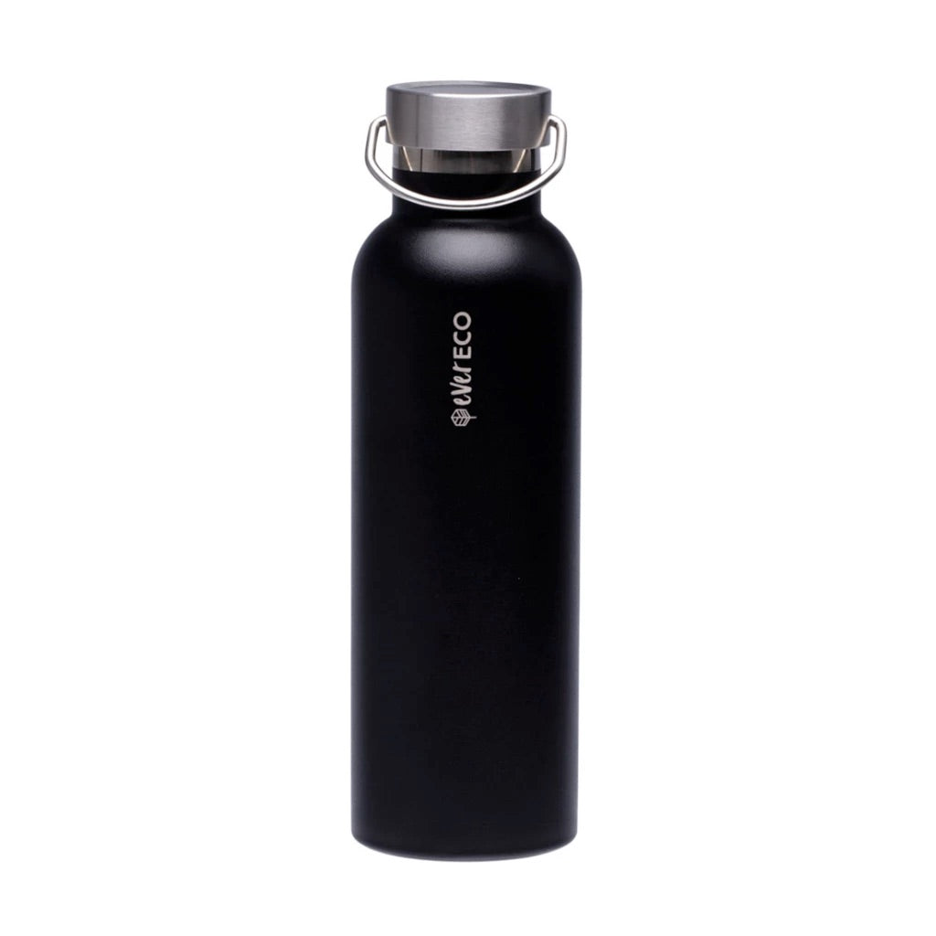 Insulated Stainless Steel Bottle - Onyx Black (750ml)-out & about-MintEcoShop