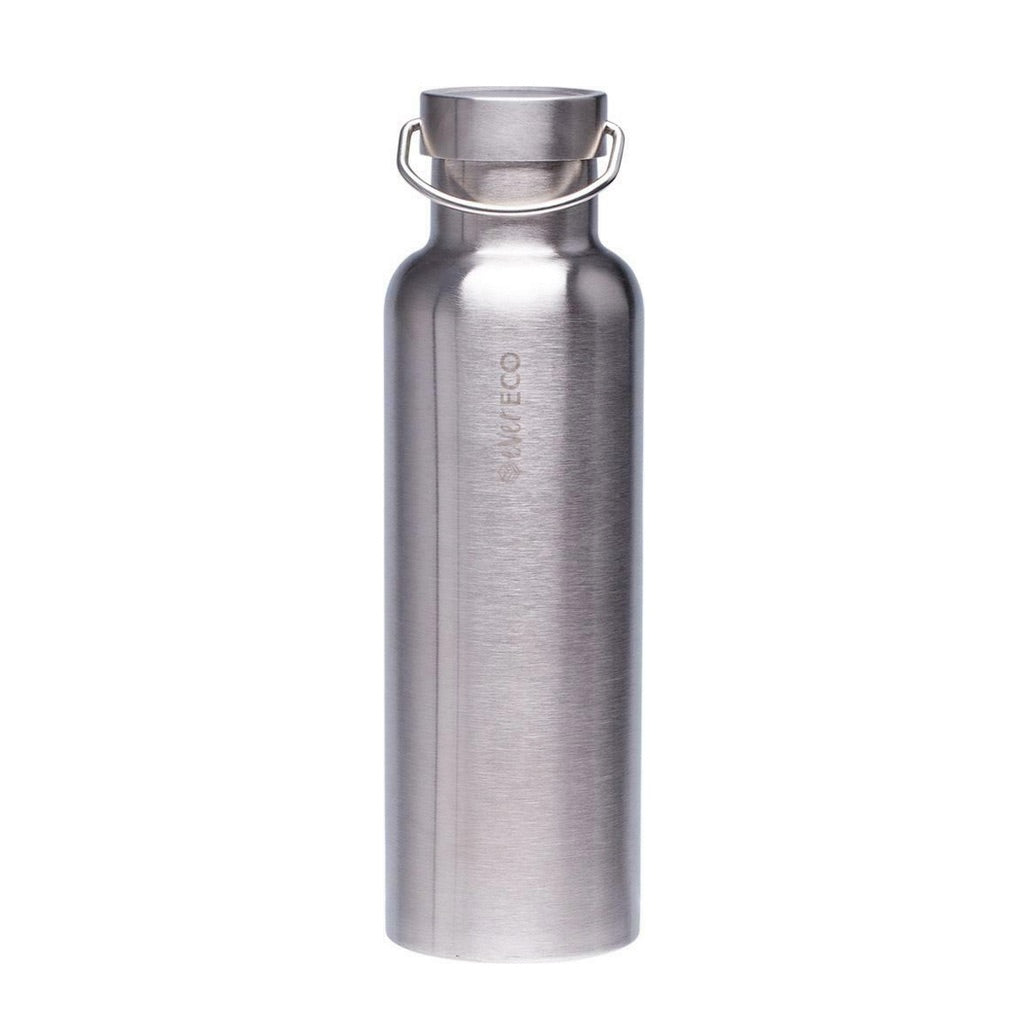 Insulated Stainless Steel Bottle - Brushed Stainless (750ml)-out & about-MintEcoShop