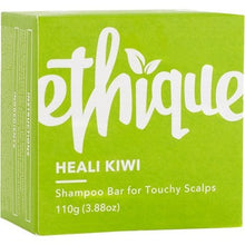 Load image into Gallery viewer, Ethique Solid Shampoo Bar - Heali Kiwi for Sensitive Scalps (110g)