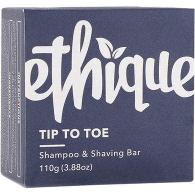 Ethique Solid Shampoo & Shaving Bar - Tip-to-Toe (110g)
