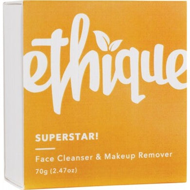 Ethique Solid Face Cleanser and Makeup Remover - Superstar! (65g)