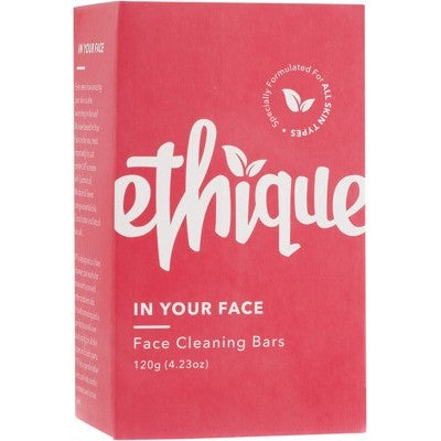 Ethique Solid Face Cleanser Bar - In Your Face for Normal to Oily Skin (120g)