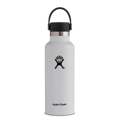 Hydro Flask Insulated Stainless Steel Drink Bottle (621ml) - Standard Mouth White