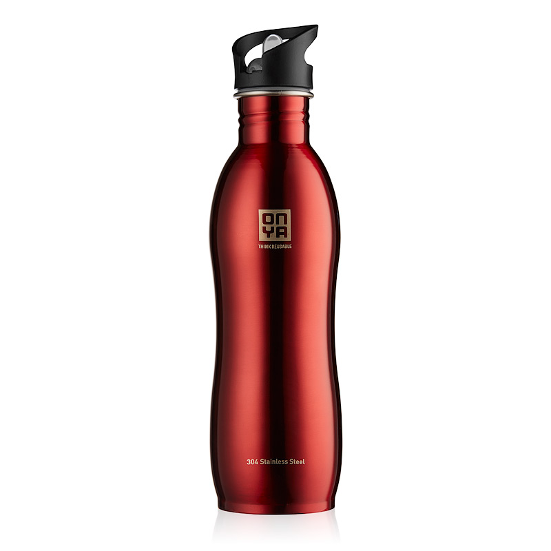 Onya Stainless Steel Drink Bottle (1l) - Red