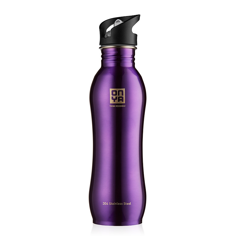 Onya Stainless Steel Drink Bottle (750ml) - Purple