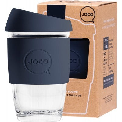 Joco Reusable Glass Coffee Cup X Small 6oz/177ml - Mood Indigo