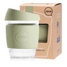 Load image into Gallery viewer, Joco Reusable Glass Coffee Cup Regular 12oz/345ml - Army