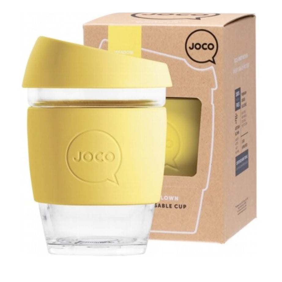 Joco Reusable Glass Coffee Cup Regular 12oz/345ml - Meadowlark