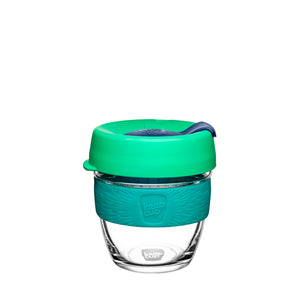 KeepCup Reusable Coffee Cup - Brew Small 8oz Green (Floret)