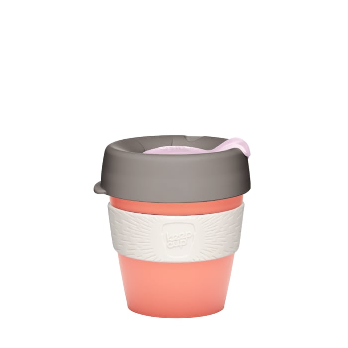 KeepCup Reusable Coffee Cup - Original Clear Small 8oz (Peach)