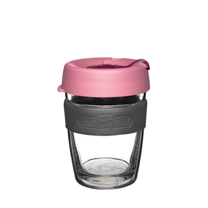 KeepCup Double Wall Reusable Coffee Cup - LongPlay Medium 12oz Pink (Scarlet)