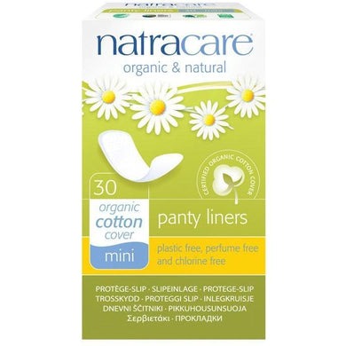 Natracare Panty Liner Pads - Mini (30 Pack)-Pads & Liners-MintEcoShop