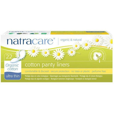 Natracare Panty Liner Pads - Ultra Thin (22 Pack)-Pads & Liners-MintEcoShop