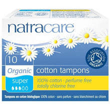 Load image into Gallery viewer, Natracare Tampons - Super (10 Pack)-Tampons-MintEcoShop