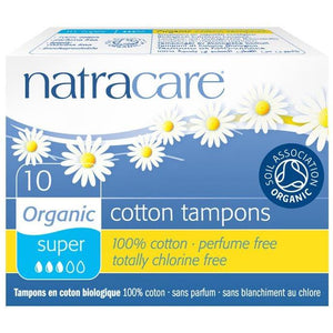 Natracare Tampons - Super (10 Pack)-Tampons-MintEcoShop