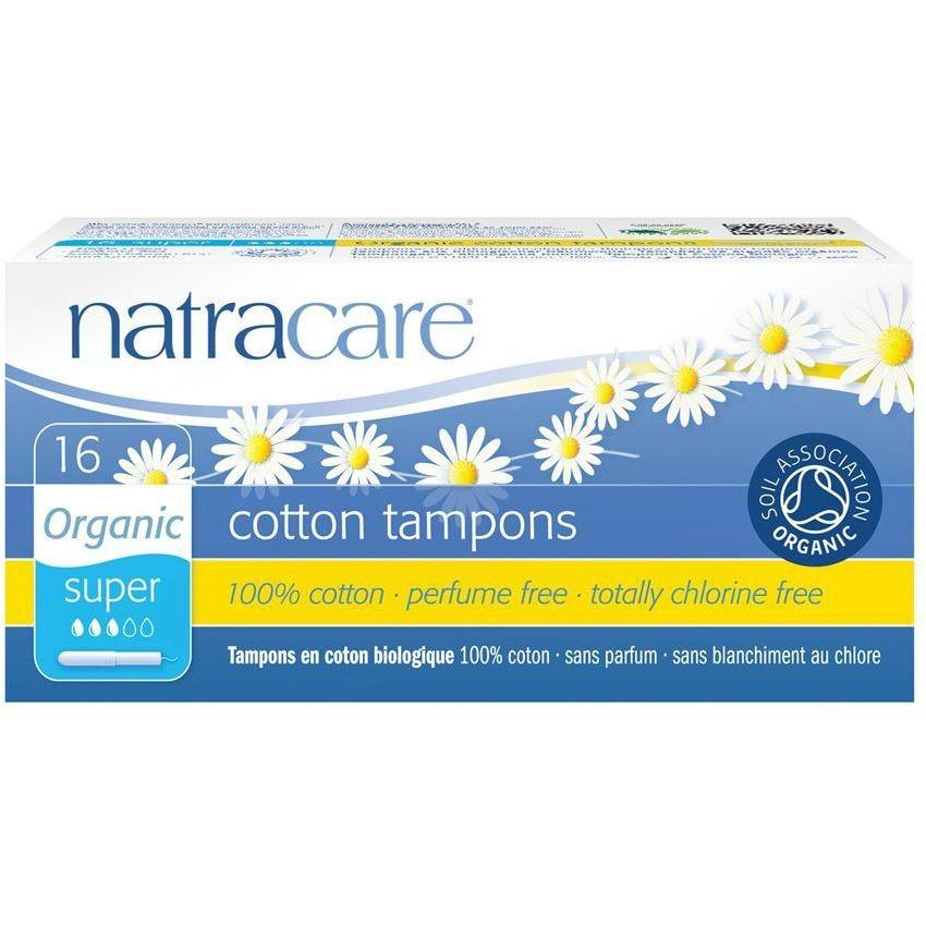 Natracare Tampons with Applicator - Super (16 Pack)-Tampons-MintEcoShop