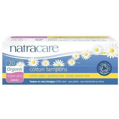 Natracare Tampons - Super Plus (20 Pack)-Tampons-MintEcoShop