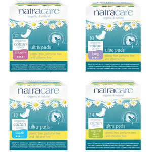 Natracare Ultra Pads - Long (10 Pack)-Pads & Liners-MintEcoShop