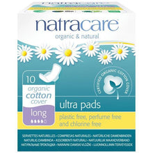 Load image into Gallery viewer, Natracare Ultra Pads - Long (10 Pack)-Pads & Liners-MintEcoShop