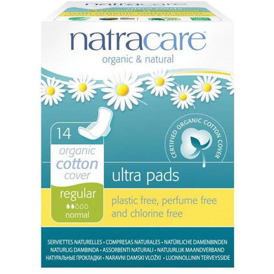 Natracare Ultra Pads - Regular (14 Pack)