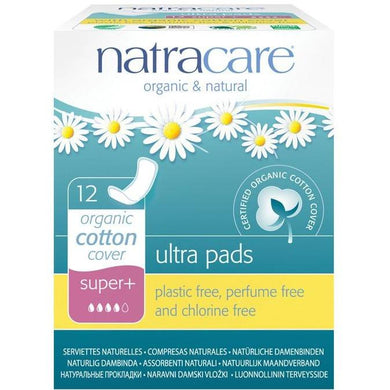 Natracare Ultra Pads - Super Plus (12 Pack)-Pads & Liners-MintEcoShop